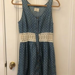 Pins and needle blue polka dotted dress (medium)